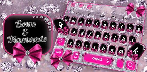 Diamond Bowknot Glitter Keyboard Theme pc screenshot