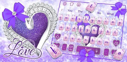 Glitter Diamond Heart Keyboard pc screenshot