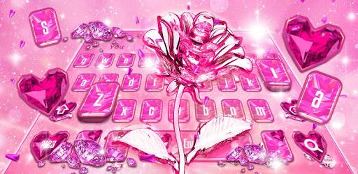 Crystal Glitter Love Rose Keyboard pc screenshot