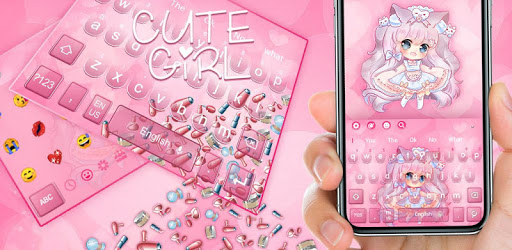 3D Charming Cute Girl Gravity Keyboard Theme👧 pc screenshot
