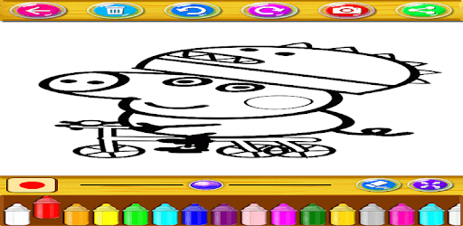 coloring book pepa pc screenshot