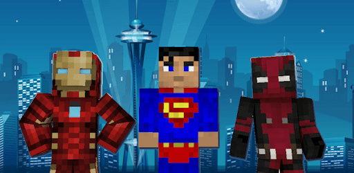 Superhero skins for Minecraft 3D pc screenshot