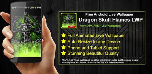Dragon Skull Flames Live Wallpaper Theme Lwp For Pc Free