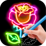 Draw Glow Flower for pc icon