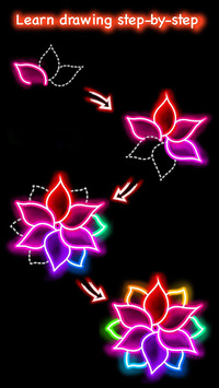 Draw Glow Flower pc screenshot 1