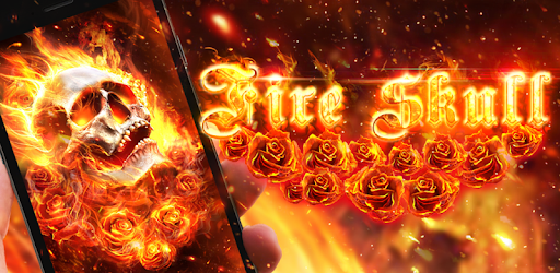 Fiery Skull Live Wallpaper pc screenshot
