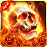 Fiery Skull Live Wallpaper for pc icon