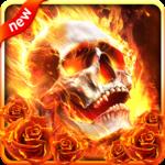 Fiery Skull Live Wallpaper icon