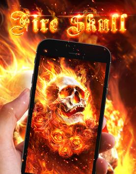 Fiery Skull Live Wallpaper APK screenshot 1