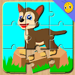 Kids Animals Jigsaw puzzle  : Little Bee APK icon