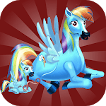 pony makeover games - rainbow Pony icon
