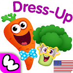 Funny Food DRESS UP games for toddlers and kids!😎 for pc icon