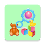 Baby Rattle and Animals Touch (No Ads) icon