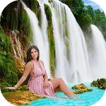 Waterfall Photo Frames 2018 icon