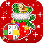 Christmas Color by Number – Merry Xmas Pixel Art icon