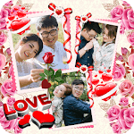 Valentine Love Photo Collage With Love Frames icon