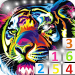 Free Glitter color by number icon