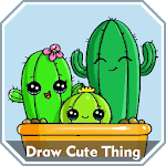 How to Draw Cute Things Easy Step by Step icon