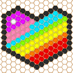 Mosaic Puzzles Art Game - Block Beads & Hex Puzzle for pc icon