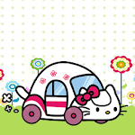 Cute Hello Car Kitty Nice Day icon
