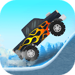 Kids car: Snow racing icon