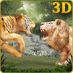 Wild Big Cats Fighting Challenge 2: Lion vs Tigers icon