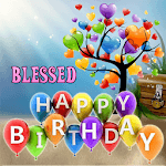 Blessed Birthday Greeting icon