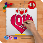 Learn how to draw hearts step by step icon