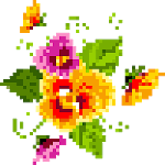 Pixel Art Flowers Color By Number icon