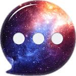 3D Galaxy SMS Messenger 2019 - SMS Lock & Free MSG icon