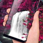 Waterfall Flower live Wallpaper 2018: 3D Aquarium icon