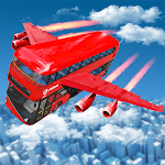 Flying Bus Driving simulator 2019: Free Bus Games icon