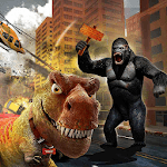 Gorilla Dinosaur Battle 2019 : Gorilla vs Dino icon