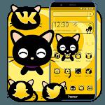 Black Cute Cat Theme APK icon