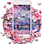 Pink Blossom Night Theme icon