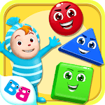 Learn shapes and colors for toddlers kids APK icon