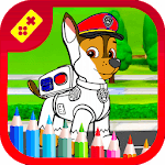 Best Coloring Book Dogs icon