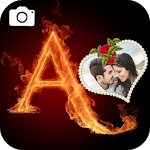 Fire Text Photo Frame Editor icon