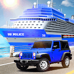 US Police Car Transport Cruise Ship Simulator 2018 icon