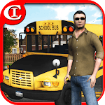 Crazy School Bus Driver 3D for pc icon