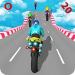 Motorcycle Stunts Game:Sky Runner Bike Stunts for pc icon
