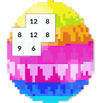 Easter Egg Color by Number Bunny Pixel Art icon