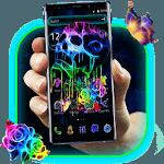 Neon Cranium Launcher Theme icon