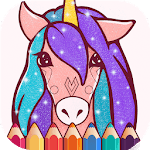 Animated Glitter Coloring Book - Unicorn for pc icon