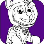 Paw Coloring Book Games for pc icon