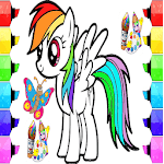 coloring horse pony icon
