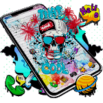 Cool Skull Graffiti Theme icon