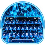 Blue Fire Flaming Keyboard Theme icon