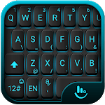 Blue Light Black Keyboard Theme APK icon