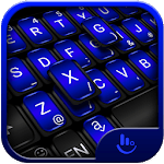 Cool Black Blue Keyboard Theme APK icon